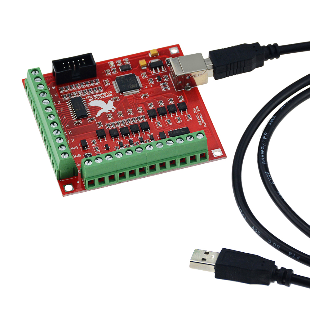 Breakout board CNC USB MACH3 100Khz 4 axis interface driver motion controller driver board image