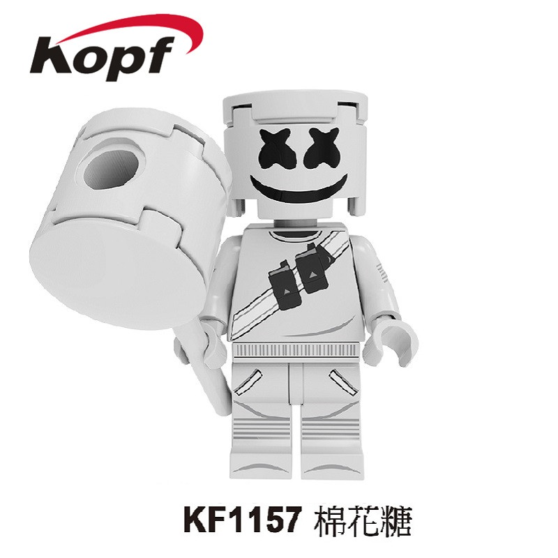 Single Sale Building Blocks Bricks Famous Character DJ AIM Agent Action Figures Toys Collection For Children Model KF1157 image