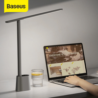 Lampada da scrivania a LED Baseus luminosità adattiva intelligente protezione degli occhi studio lampada da tavolo pieghevole da ufficio comodino dimmerabile leggi luci notturne