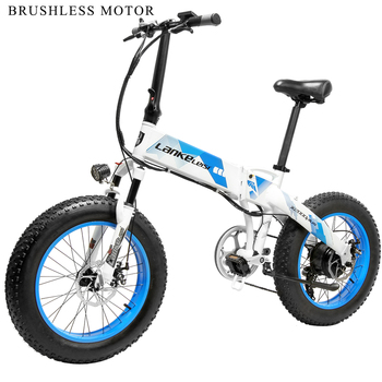 Lankeleisi-patinete eléctrico plegable, 48V, 500W, potente neumático ancho de 20x4,0, para motocicleta...