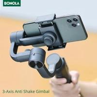 Bonola-Palo de Selfie antivibración de 3 ejes, cardán de mano para estabilizador de cámara de teléfono inteligente, iOS, iPhone y Android, controles de aplicación para teléfono