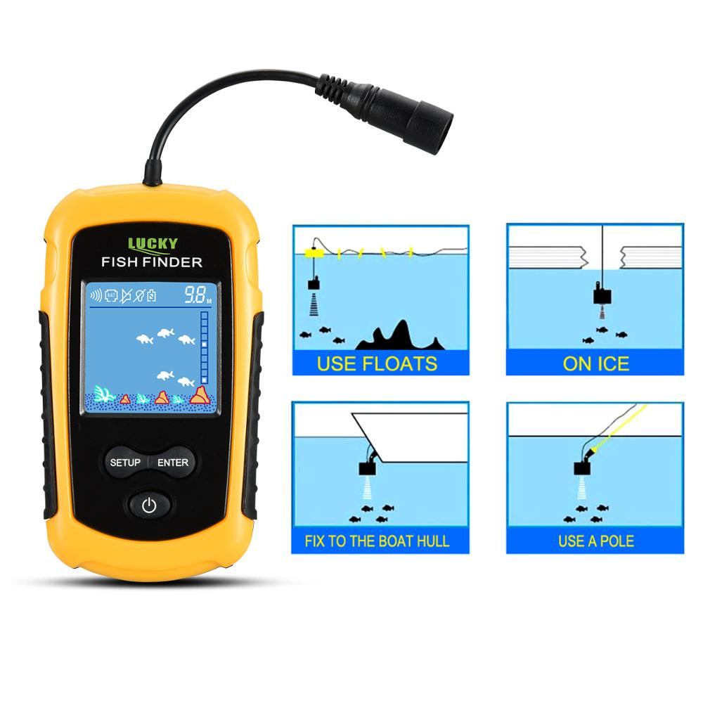 Russian warehouse! FFC1108-1 Alarm 100M Portable Sonar Fish Finders Fishing lure Echo Sounder Fishing Finder Lake Sea Fishing 2