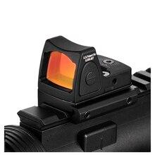 미국 주식 RMR 빨간 점 시력 콜리메이터 글록 권총 반사 시력 범위 맞는 20mm 위버 레일 Airsoft 사냥 소총