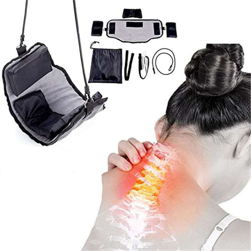 Neck Massager Device Kit In Door Adjustment Chiropractic Back Head Massager Relaxation Dropshipping 20#