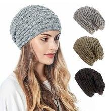 Шапка бини для осени зимы женская шапка зимняя теплая вязаная