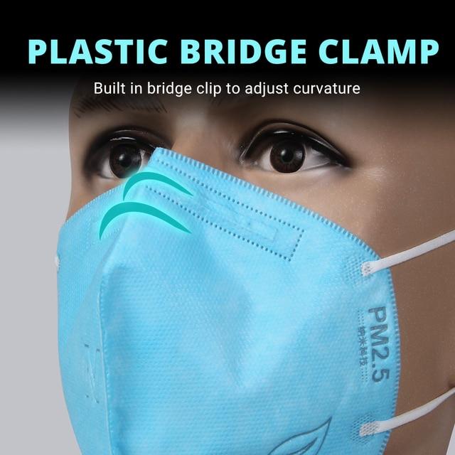 10 PCS KN95 Face Mask Facial Masks Flu Dust Masks Mouth Caps Respirator Masks Reusable Anti Dust Pm 2.5 Mask 5