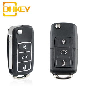 BHKEY For Volkswagen Key Shell 3 Buttons Flip Key Shell For Volkswagen Vw Jetta Golf Passat B5 B6 Beetle Polo Bora Caddy MK5