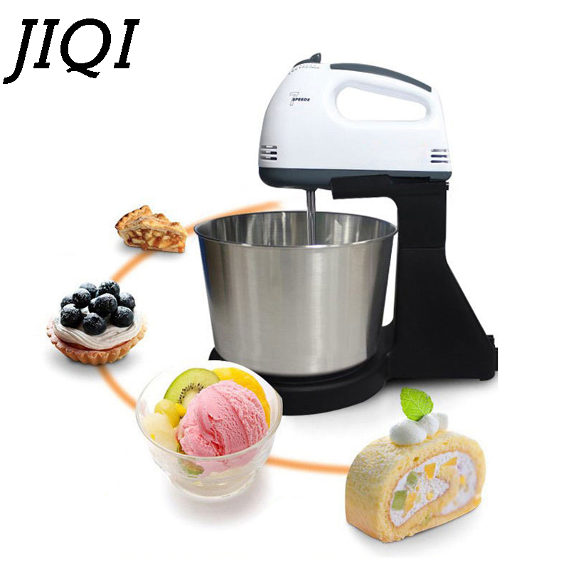 JIQI Multifunction Table Electric Food Mixer Table Handheld Egg Beater Blender For Baking With 7 Speed Automatic Whisk EU/USPlug