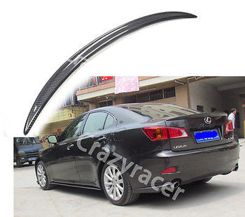 For Lexus IS250 IS350  Sedan Carbon Fiber Trunk Boot Lip Spoiler Wing 2005-2012