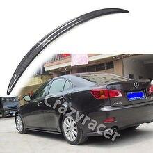 For Lexus IS250 IS350  Sedan Carbon Fiber Trunk Boot Lip Spoiler Wing 2005-2012