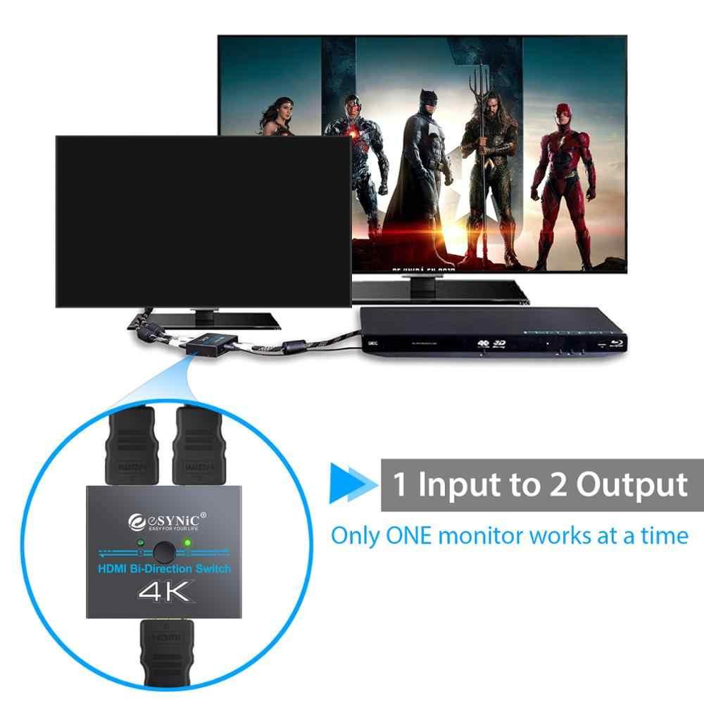Разветвитель HDMI Proster 3D, двунаправленный переключатель HDMI с поддержкой переключателя 4K Ultra HD, DAC 2 входа в 1 выход dac