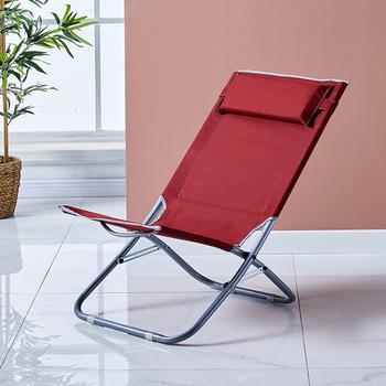 Regulowany prosty dom przenośny wypoczynek składane krzesło pufa relaksacyjna na przerwę obiadową biuro Nap leżak meble do salonu tanie i dobre opinie CN (pochodzenie) Nowoczesne Minimalistyczny nowoczesny Szezlong Meble do domu Metal china