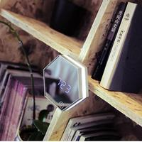 USB Rechargeable Night Lamp Portable Creative Touch Sensor USB Rechargeable Night Lamp Mirror Alarm Clock Night Light