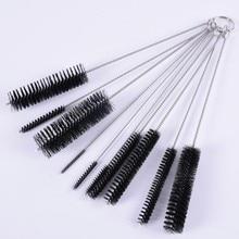 10 pcs/Set Nylon Tube Set Cleaning Brush Straw For Glass Hookah Jewelry Brushes Feeding Bottle