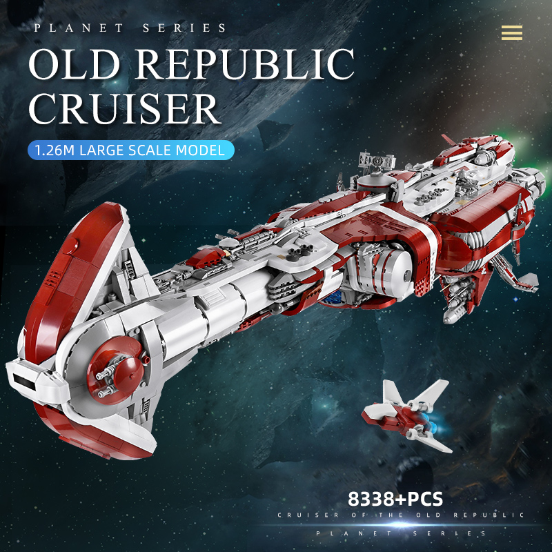 MOULD KING 21002 The MOC 05079 Old Republic Cruiser Star Destroyer Model