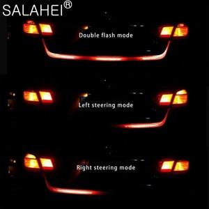 Image 2 - 12V 1.2M 1.5M Car Rear Trunk Tail Light Dynamic Streamer Reverse Warning LED Strip Auto Additional Break Trun Signal Lamp