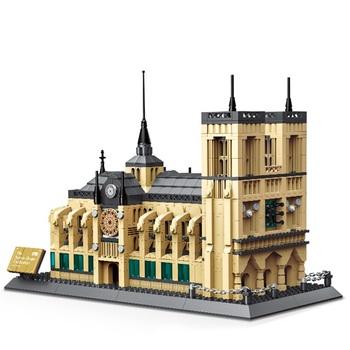 1380 sztuk Mini diamentowe klocki znane miasto architektura katedra Notre Dame Model klocki klocki edukacyjne zabawki na prezenty tanie i dobre opinie pimpimsky Z tworzywa sztucznego WJ1843 no eat it 5-7 lat Dorośli 8 ~ 13 Lat 14Y Zwierzęta i Natura DIY BRICKS TOY 1380PCS Building Blocks