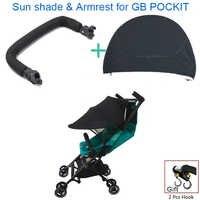 1:1 Kinderwagen Zubehör Armlehne Für GB Pockit plus Handlauf & Sonne Schatten & Haken Für Goodbaby Pockit + Kinderwagen GB QBIT Kinderwagen