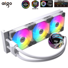Aigo Galaxy 240/360 ARGB CPU raffreddatore ad acqua Master Rgb Fan 120mm radiatore dissipatore di calore liquido LGA 2066 2011 1151 1155 AM4 AMD