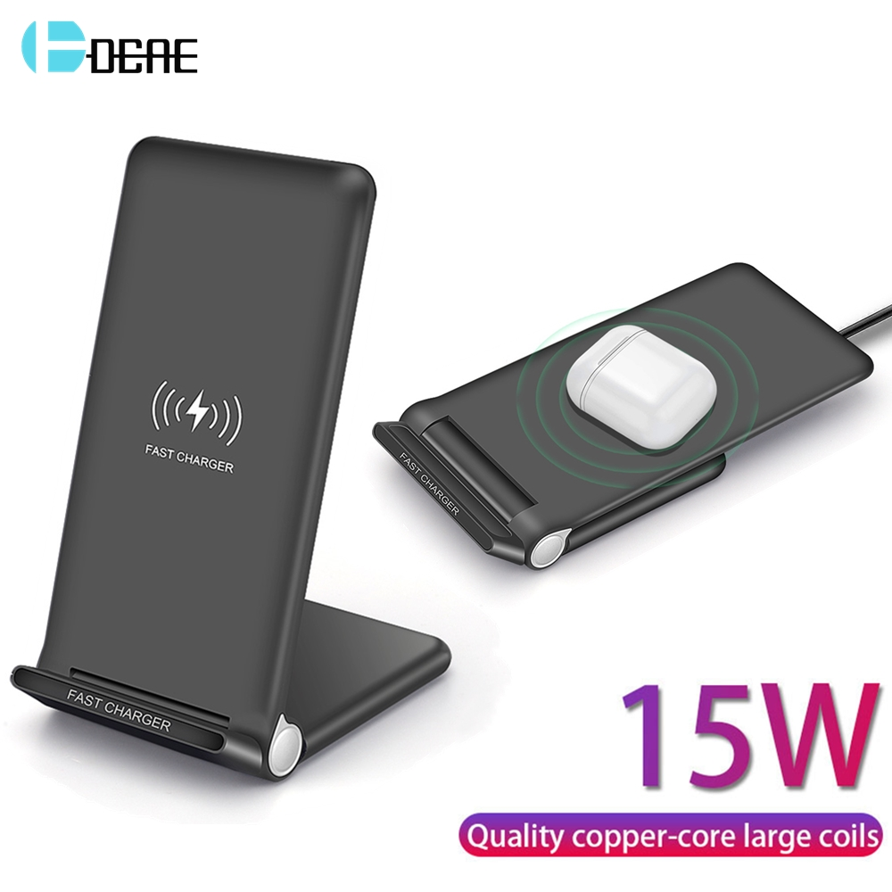 15W Fast QI Wireless Charger Usb Tpye C QC 3.0 10W Quick Charging For iPhone 11 Pro XS XR X 8 Airpods Samsung S10 S9 Note 10 9 8