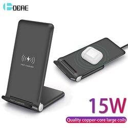 Tpye de 15W Rápido QI Sem Fio do Carregador Usb C QC 3.0 10W Carregamento Rápido Para iPhone 11 Pro XS XR X 8 Airpods Samsung S10 S9 Nota 10 9 8