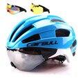 CAIRBULL 235 г ультралегкий велосипедный шлем EPS Aero Road MTB велосипедный шлем в формованном виде велосипедный шлем Casco Ciclismo с ветрозащитными линзами
