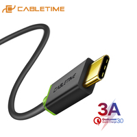 CABLETIME USB Type C Cable 3A Fast Charging Data Cable  for Samsung Galaxy S9 Plus Note 9 Xiaomi Oneplus 6 USB C 3.1 cable C001
