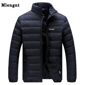 Image 1 - Big Size 2019 White Duck Down męska kurtka zimowa ultralekkie doły kurtka codzienna odzież wierzchnia śnieg ciepły futrzany kołnierz markowy płaszcz parki