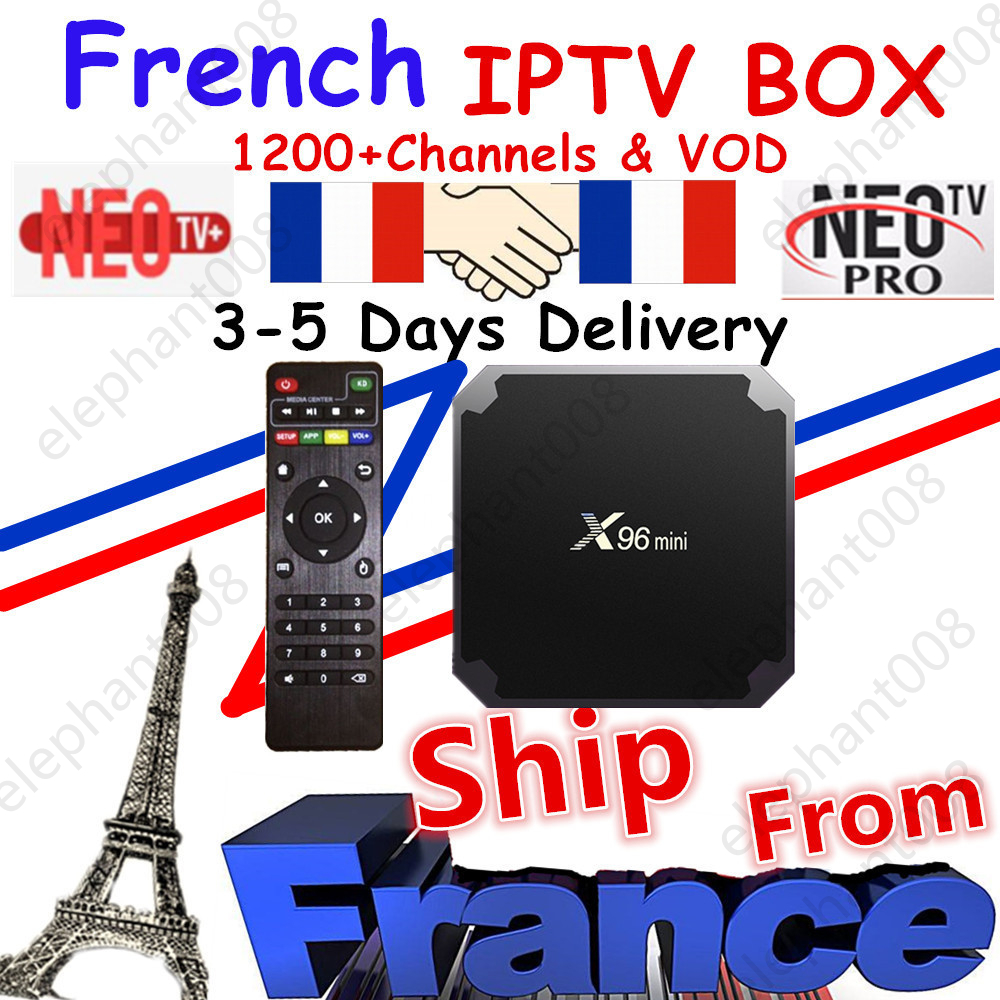 Best French IPTV Box X96 Mini Android TV Box With 1200+ 1 Year IPTV Europe France Arabic Africa Morocco Football Smart IPTV Box