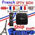 Meilleur français IPTV Box X96 mini Android TV Box avec 1200 + 1 an IPTV Europe France arabe afrique maroc football Smart IPTV Box
