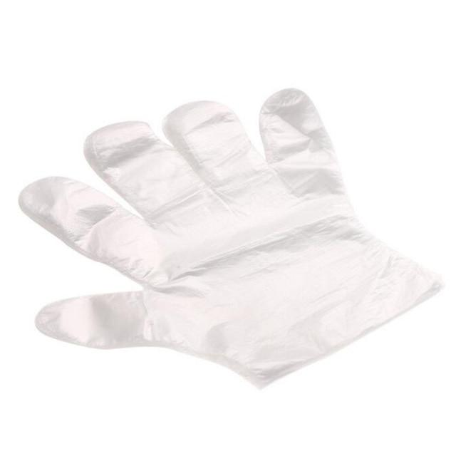 Disposable Gloves One-off Food Plastic Fruit Gloves Restaurant BBQ Transparent Eco-friendly PE Gloves Kitchen Garden Accessories 2