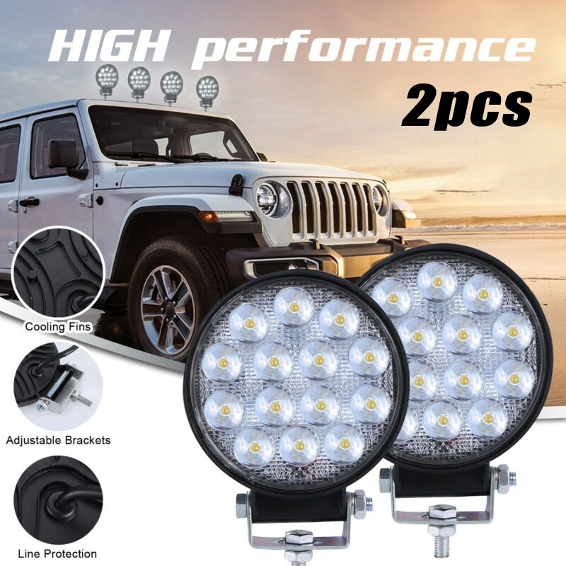 2Pcs 140W LED Work Light Spot Lamp Offroad Truck Tractor Boat Trailer SUV ATV 24V 12V Spot LED Light Bar LED Work Light