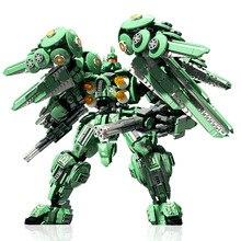 DIY MOC Technology Series NZ-666 Kshatriya Gundam Model Children's Educational Small Particles Assembled Building Block Toys