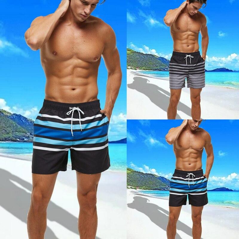 Funny Rainbow Unicorn Mens Summer Beachwear Sports Running Swim Board Shorts Mesh Lining