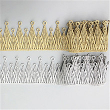 Gold and silver embroidery lace DIY clothing accessories handmade crown water soluble