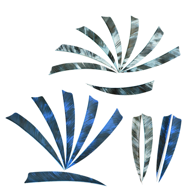 Image 2 - 50/100pcs 5inch Archery Arrow Feathers Right Wings Turkey Feather Shield Shape DIY Tools Fit For Hunting Shooting Accessories-in Bow & Arrow from Sports & Entertainment