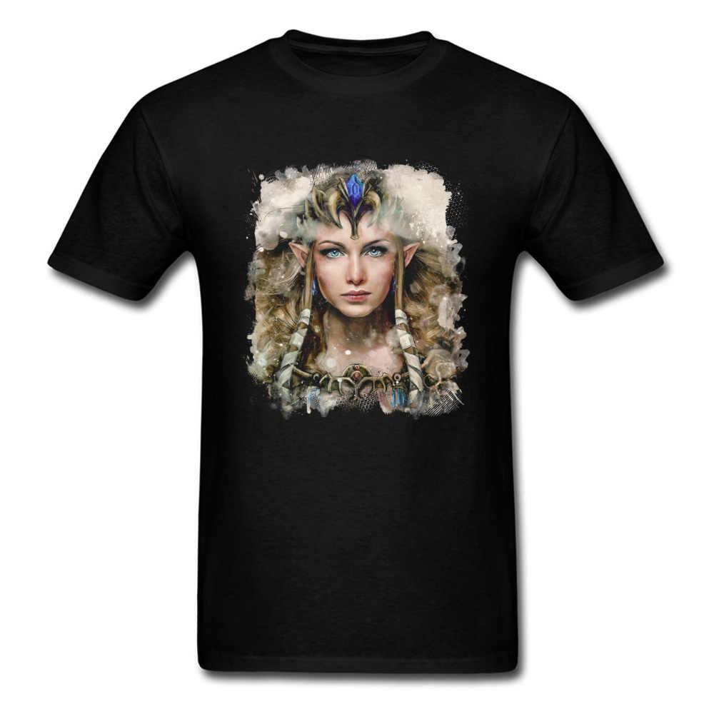 Männer Casual T-Shirt Druck Sexy Epische Hylian Schöne Prinzessin Neue Design Oansatz Sweatshirts Kurzarm Mode T Shirts