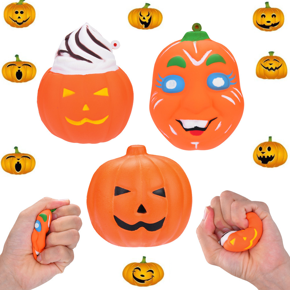 Halloween Pumpkin Scented Squishies Slow Rising Kids Toys Stress Relief Toy Squishies Toys For Kids   Sept 10