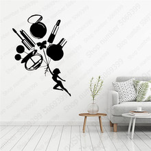 Artistic cosmetics Wall Art Decal Stickers Pvc Material For Living Room Kids Nordic Style Home Decoration LW594