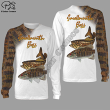 Smallmouth bass fishing 3d all over Printed Unisex hoodies Harajuku Fashion Casual Hooded Sweatshirt zip hoodies all over printed open shoulder dress