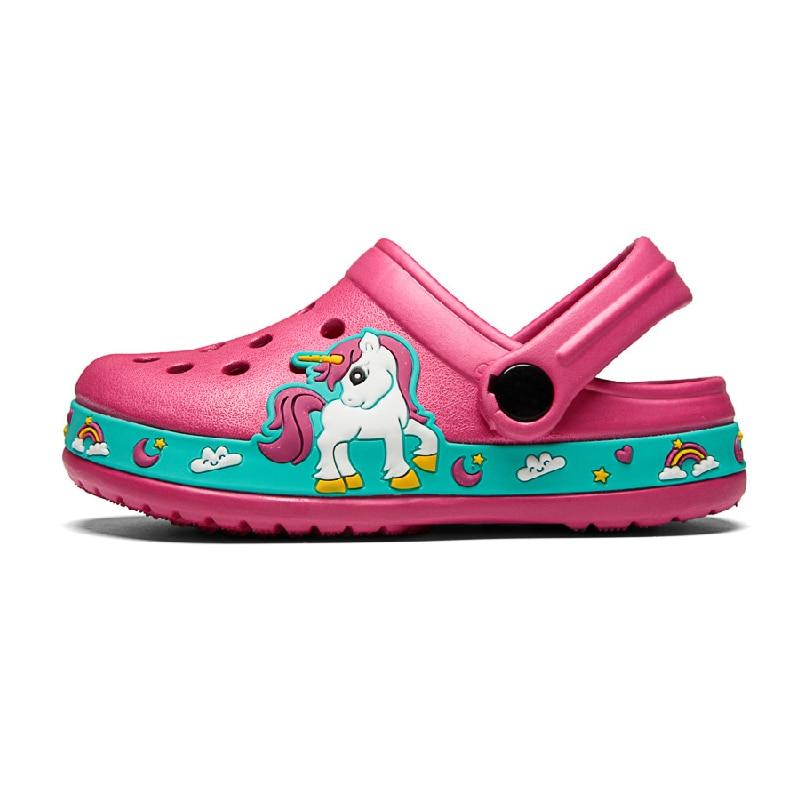 Baby Children Croc Shoes Summer Clogs Unicorn Beach Sandals Kids Garden Boys Girls Soft Non Slip Indoor Outdoor Toddler Slippers