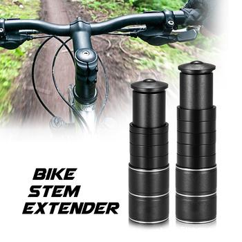 Rower ze stopu aluminium Stem Riser widelec Stem Extender Extender rowerowa jazda na rowerze rower macierzystych Head Up Raiser kierownica adapter tanie i dobre opinie CN (pochodzenie) Aluminum Alloy 20-22 5mm 56-65mm