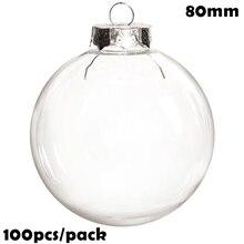 شحن مجاني لتقوم بها بنفسك دهان/شاتيربروف عيد الميلاد زينة زخرفية 80 مللي متر الكرة البلاستيكية ، 100/Pack