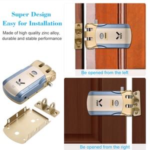 Image 4 - Wafu HF 010 Wifi APP חכם מנעול אלחוטי אלקטרוני מנעול דלת טלפון בקרת מנעול בלתי נראה שלט רחוק מקורה מגע מנעולים