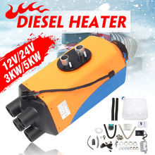Car Heater 12V/24V 3KW/5KW Diesel Air Parking Heater with Remote Control LCD Monitor Silencer 4 Holes Heating For Trucks RV Boat