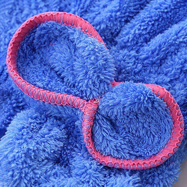1Pcs Microfiber Bath Towel Hair Dry Quick Drying Lady Bath Towel Soft Shower Cap For Lady Turban Head Wrap Bathing Accessories