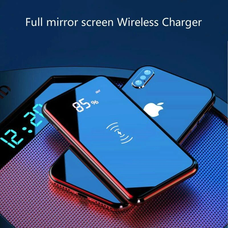 QI Wireless Power Bank Charger 30000mAh For IPhone 11 XS Max Samsung Power Bank Dual USB Charger Wireless External Battery Bank