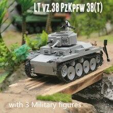 535 Miếng Quân Sự WW2 LT 38 Xe Tăng Hạng Nhẹ Khối Xây Dựng Mô Hình Technic Thành Phố Quân Sự Người Lính Vũ Khí Đồ Chơi