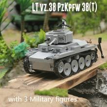 جديد 535 قطعة العسكرية WW2 LT 38 ضوء خزان اللبنات نموذج تكنيك مدينة العسكرية الجندي سلاح اللعب