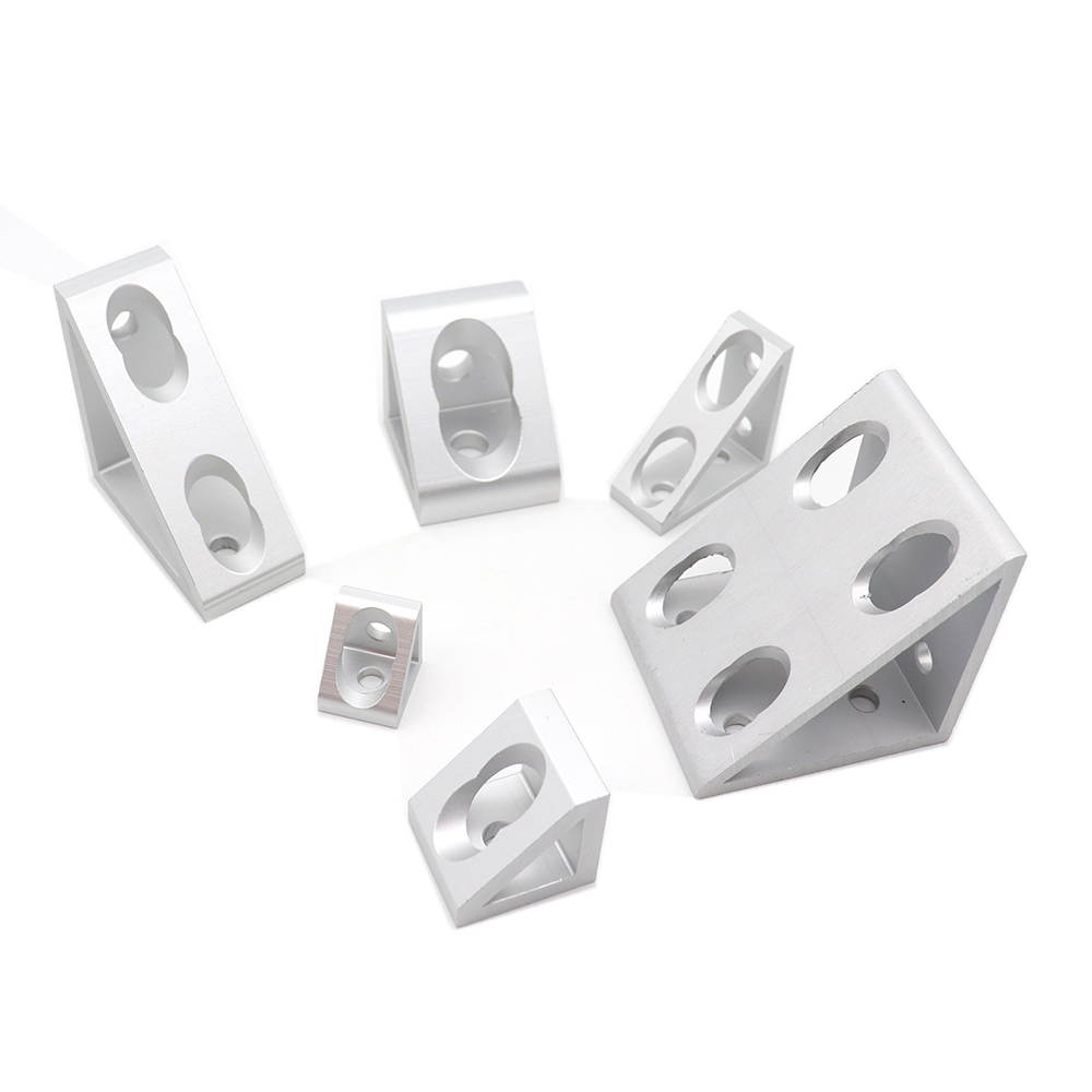 1 Piece Triangular Type 2/4hole 3030/4040/4545 90 Degree Connector Corner Angle Bracket Connection Joint For Aluminum Profile